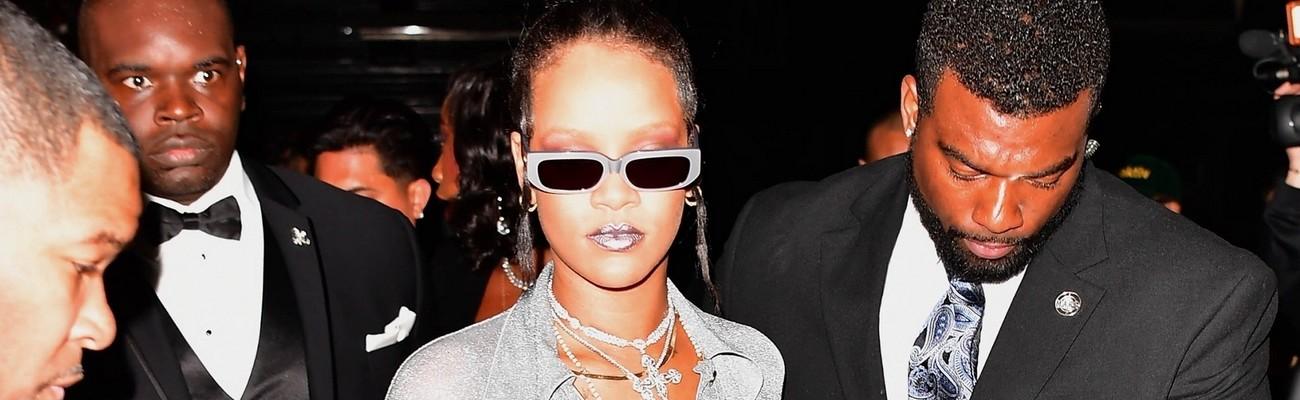 Rihanna shines bright at MET Gala after party