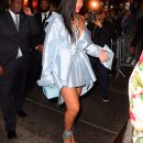 Rihanna arrives at Clara Lionel Foundation benefit on June 6, 2018 satin
