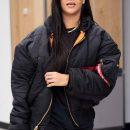 Rihanna leaves New York on June 7, 2018 long hair