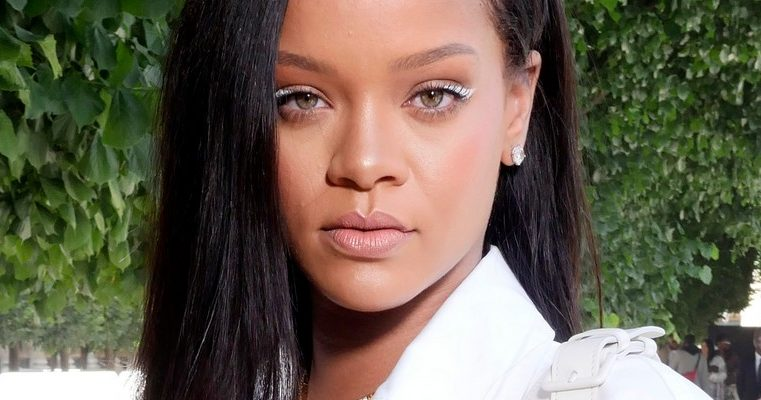 Rihanna attends Louis Vuitton fashion show in Paris