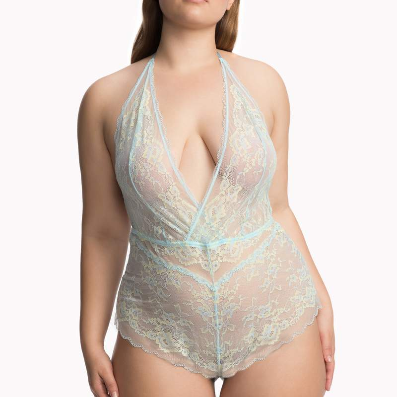 Rihanna Savage x Fenty Lace Teddy Plus Size front