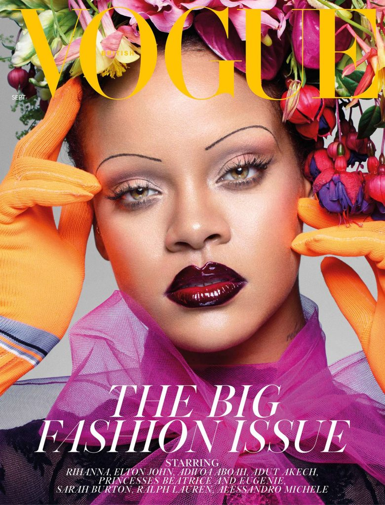 Rihanna covers the September 2018 issue of British Vogue