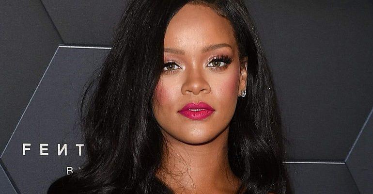 Rihanna at Fenty Beauty's anniversary party at Sephora inside JC Penny