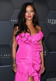 Rihanna at Fenty Beauty's anniversary party on September 14, 2018