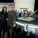 Rihanna attends Rivian event in Los Angeles on November 26, 2018
