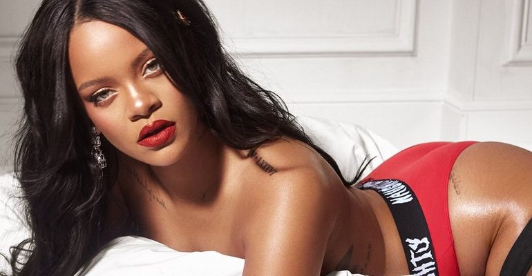 Rihanna goes naughty in new Savage x Fenty Holiday Promo