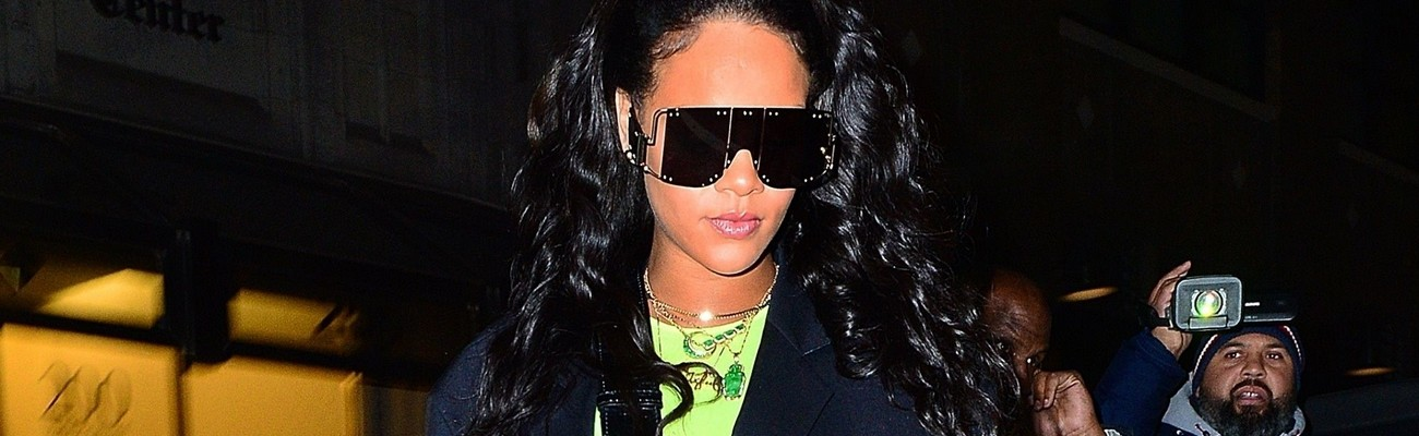 Rihanna steps out in New York in Fenty sunglasses