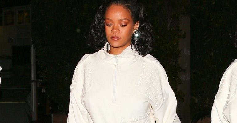 Rihanna dines at Giorgio Baldi with her manager on February 5, 2019