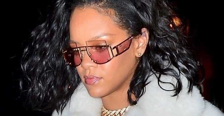 Rihanna steps out in $12K coat