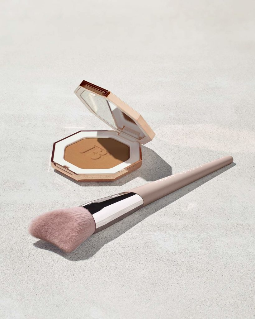 Fenty Beauty Cheek-Hugging Bronzer Brush with bronzer