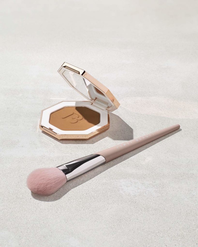 Fenty Beauty Sculpting Bronzer Brush with bronzer