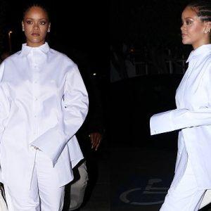 Rihanna at Giorgio Baldi restaurant in Los Angeles on March 14, 2019