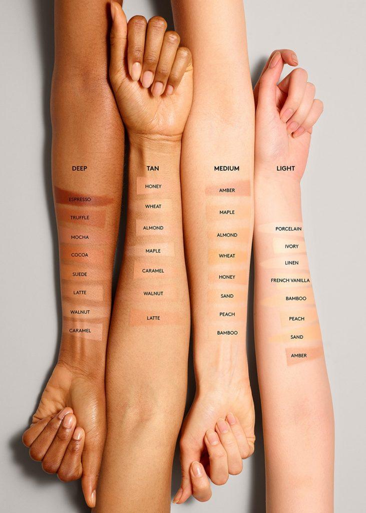 Match Stix Matte Skinstick All Shades on skin