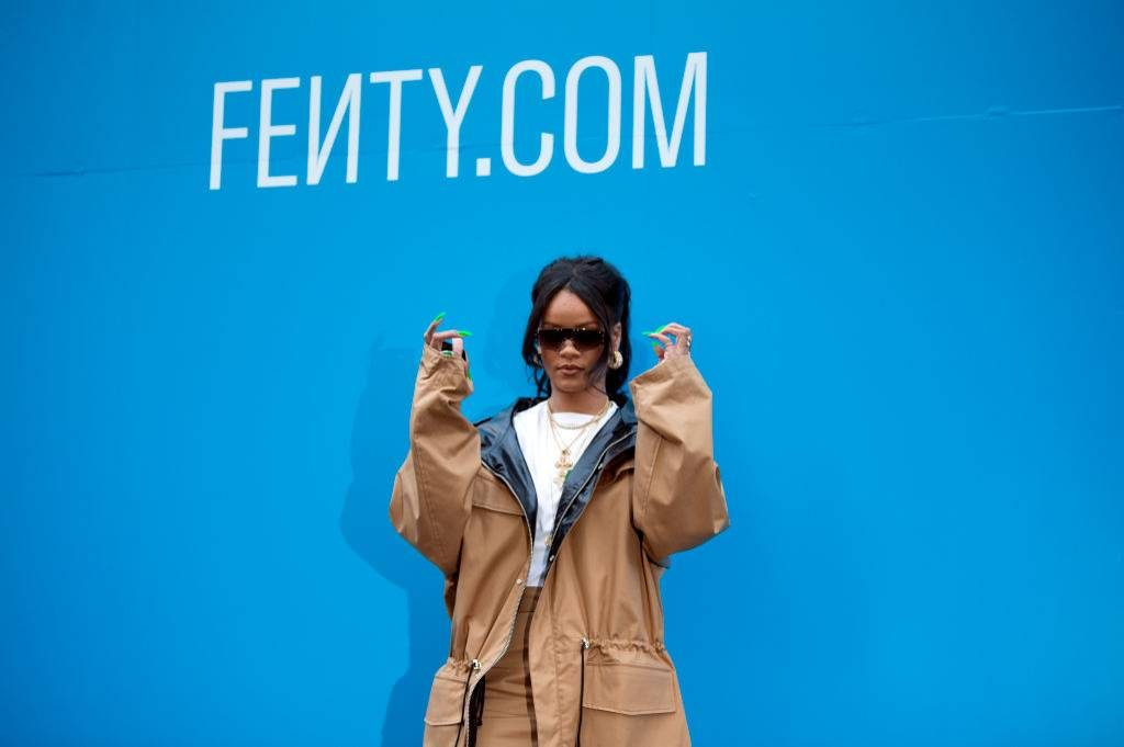 Rihanna visits FENTY store in Paris