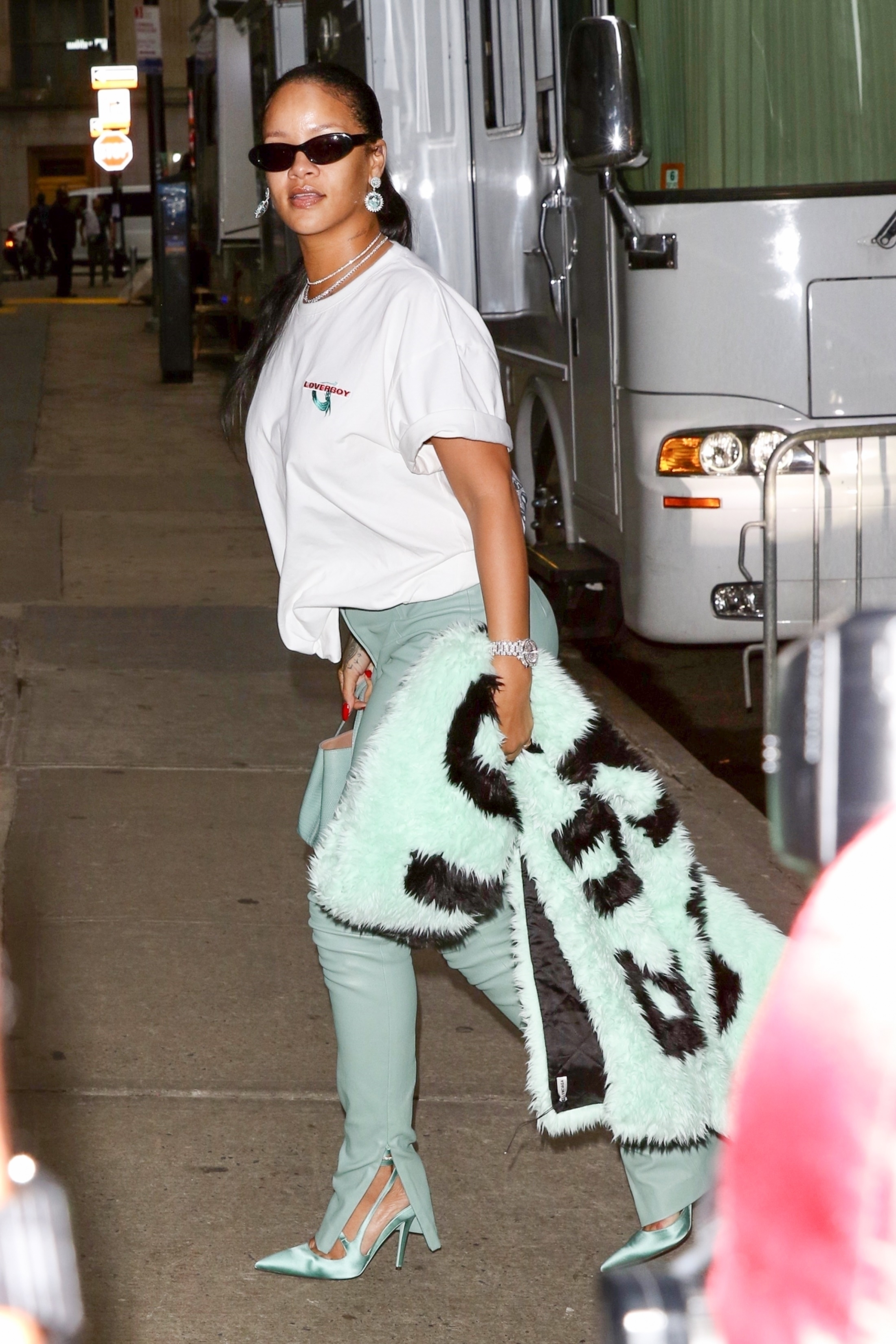 Rihanna out in New York before Diamond Ball on September 12, 2019