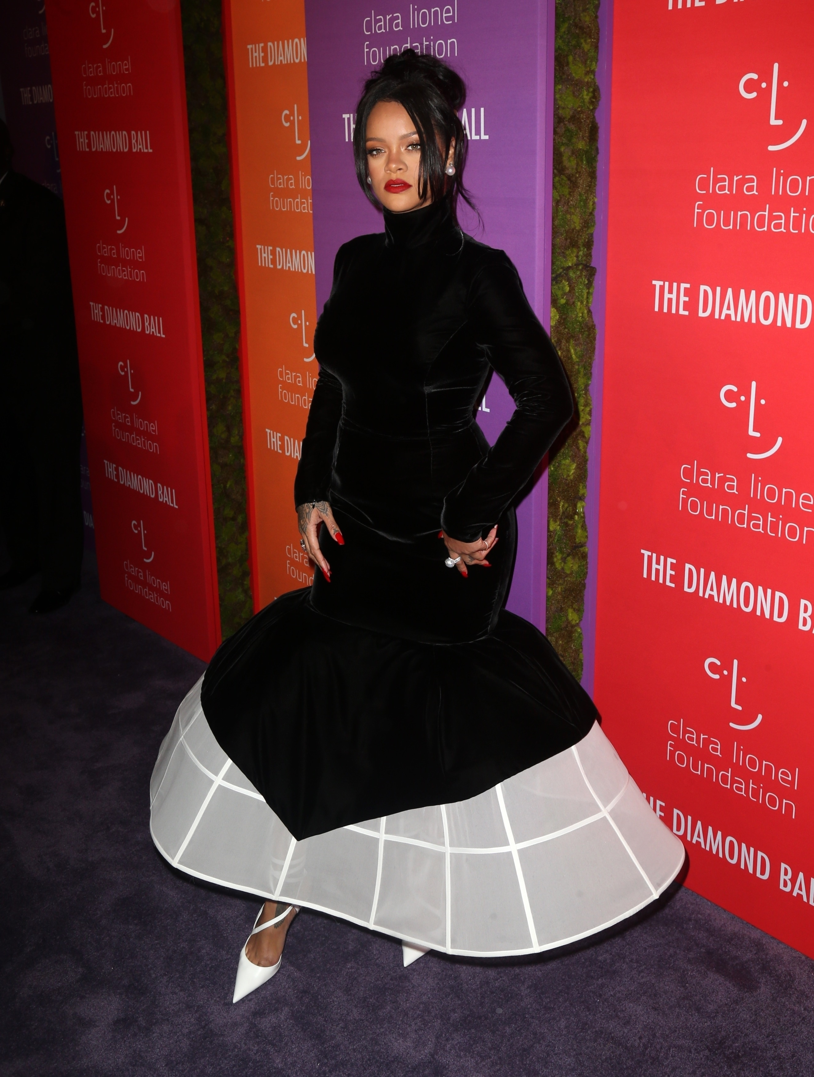 Rihanna at 2019 Diamond Ball in New York on September 12, 2019