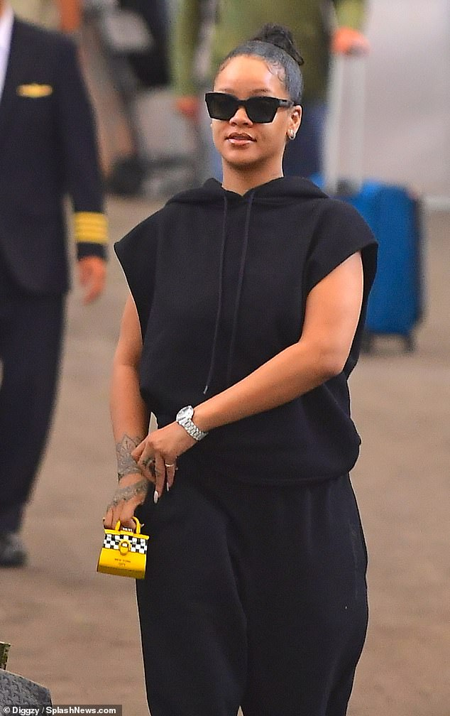 Rihanna arrives at JFK Airport on September 8, 2019