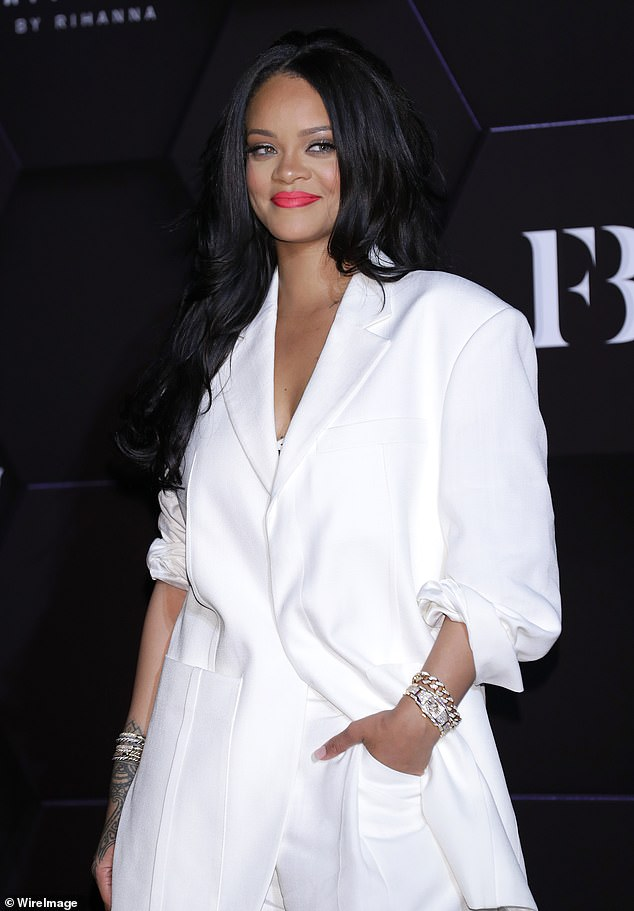 Rihanna at second Artistry + Beauty Talk with Rihanna in Seoul on September 17, 2019