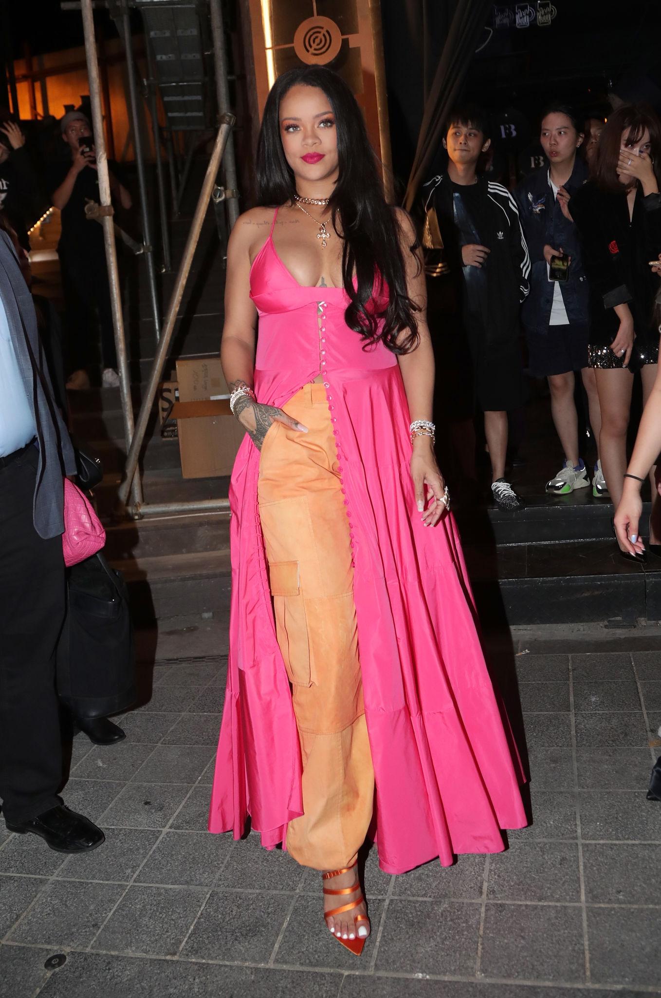 Rihanna at Fenty Beauty party in Seoul