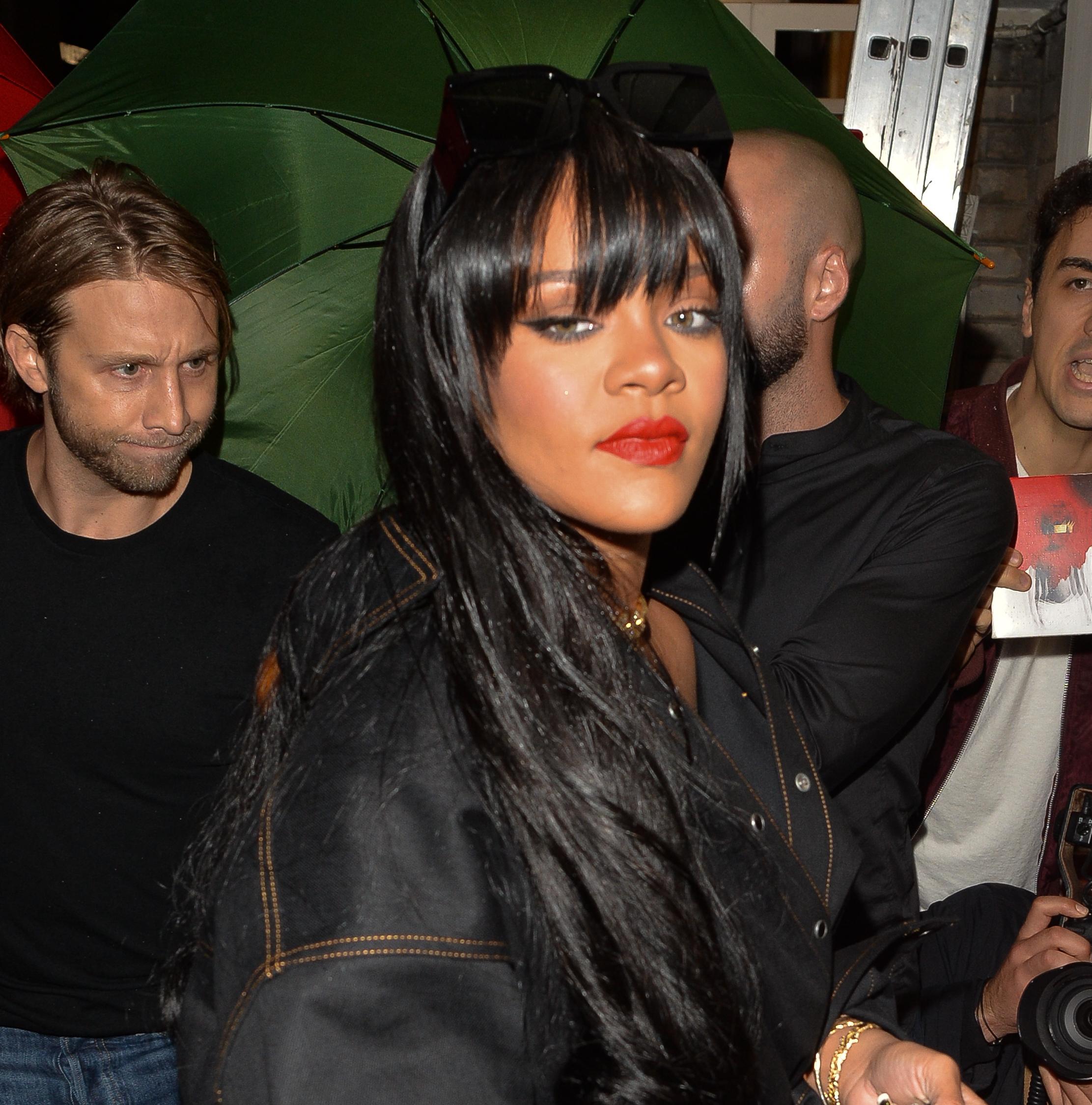 Rihanna at FENTY event in Paris on September 26, 2019