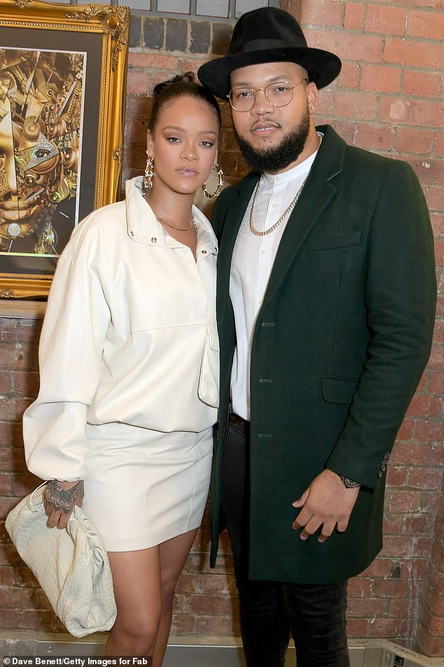 Rihanna at Legado x Faberge x Rome de Bellegarde VIP Party on October 10, 2019