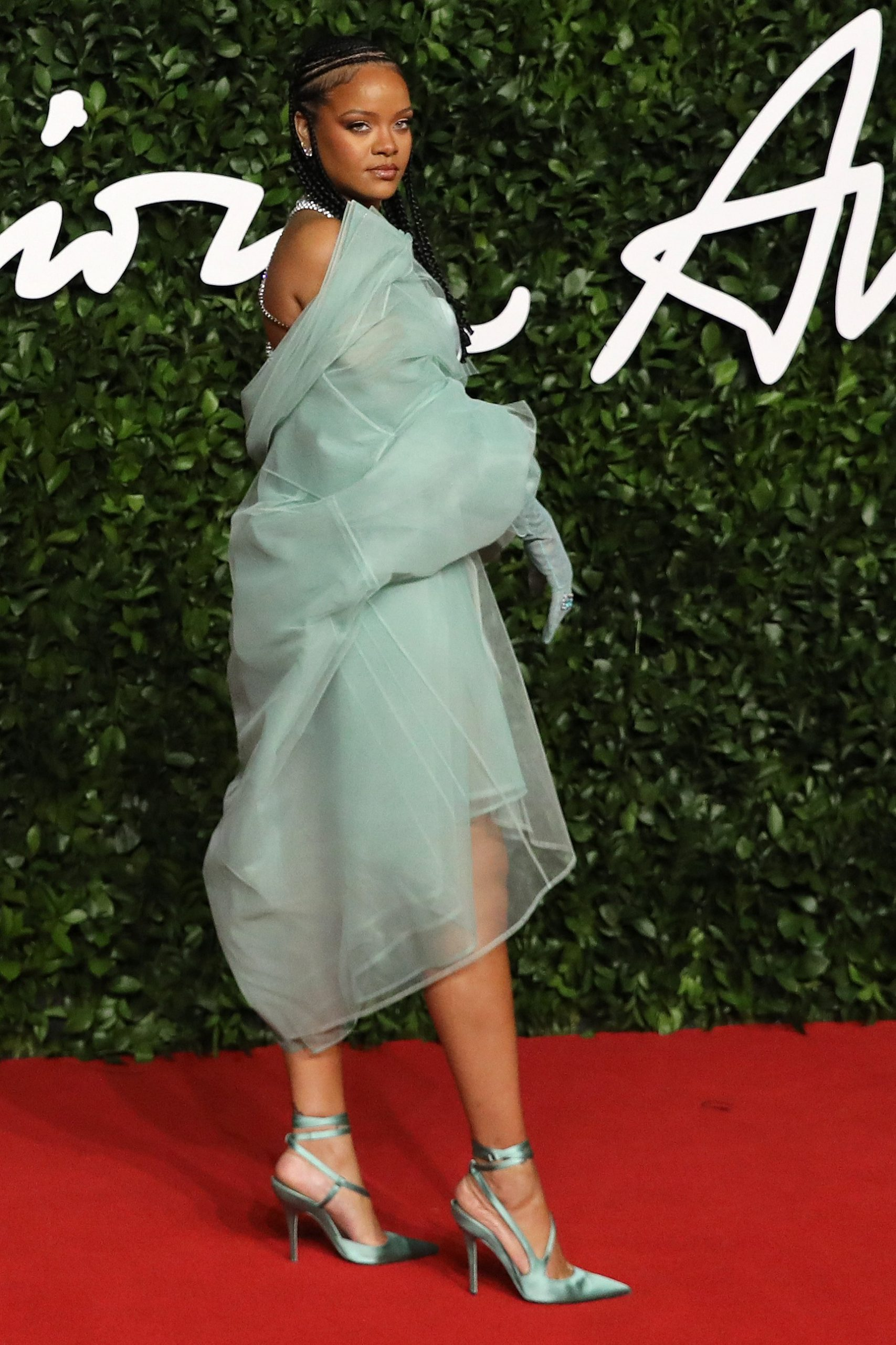 Rihanna attends The Fashion Awards 2019