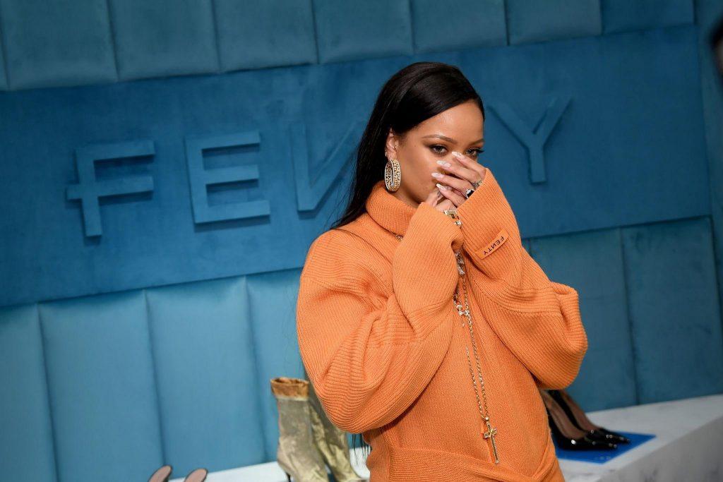 Rihanna promotes FENTY at Bergdorf Goodman on February 7, 2020