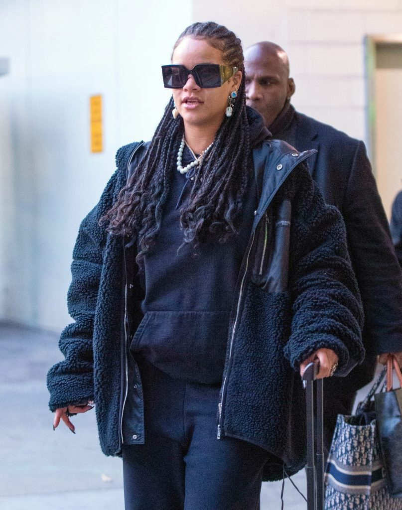 Rihanna at JFK Airport on January 16, 2020
