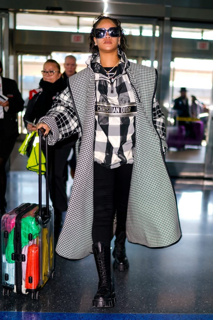 Rihanna at JFK Airport on January 21, 2020