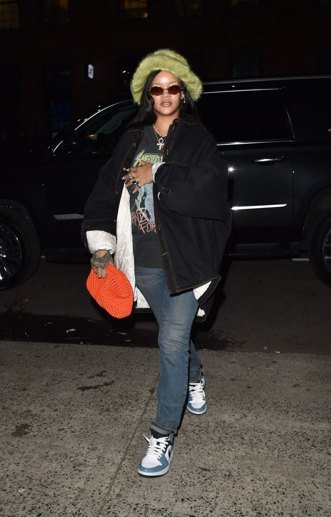 Rihanna out in New York on February 8, 2020