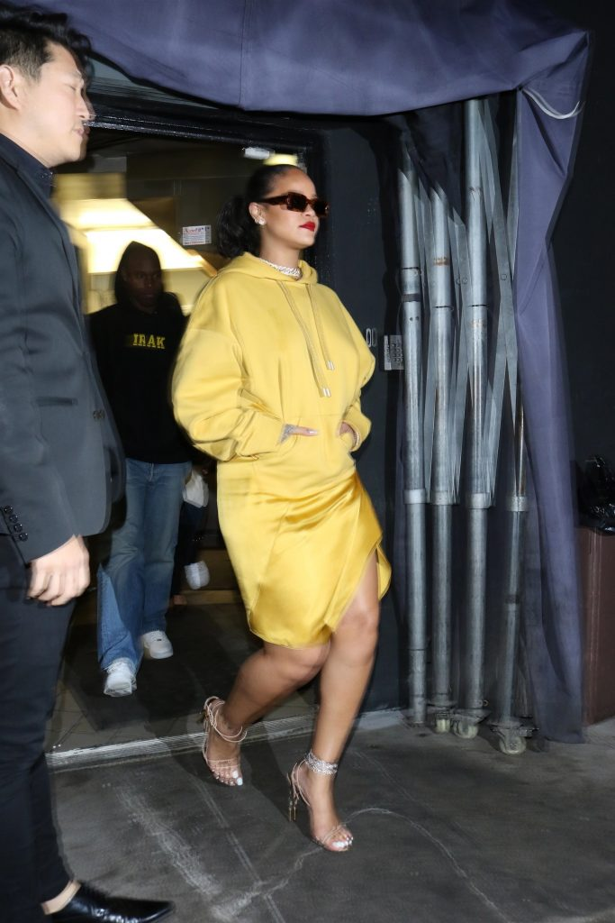 Rihanna at the Nice Guy nightclub in Los Angeles on February 11, 2020