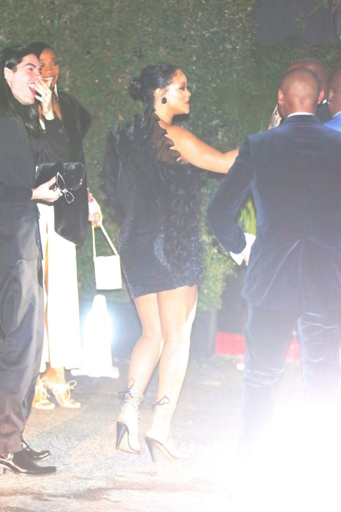 Rihanna attends Beyonce's Oscar After Party on February 9, 2020