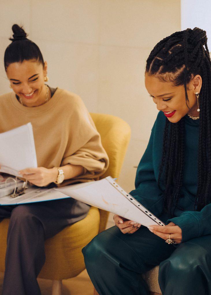 Amina Muaddi and Rihanna for FENTY release 7-20
