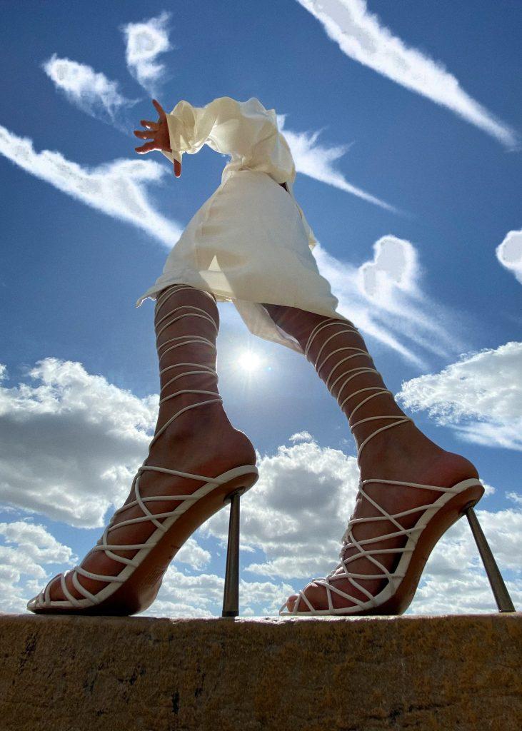 Rihanna release 7-20 Amina Muaddi for FENTY Caged in Sandals