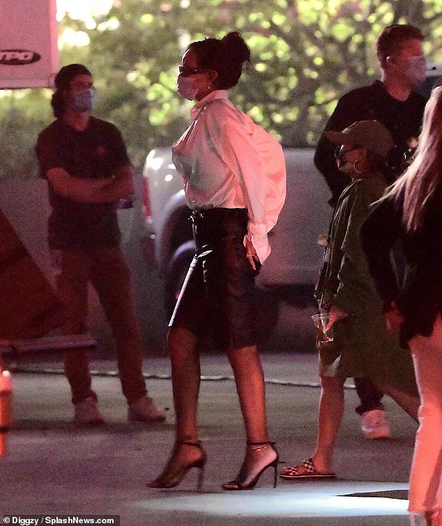 Rihanna on set of a project in Los Angeles on September 13, 2020